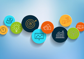 Business Icons Background