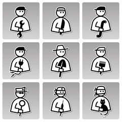 People occupations icons (man).