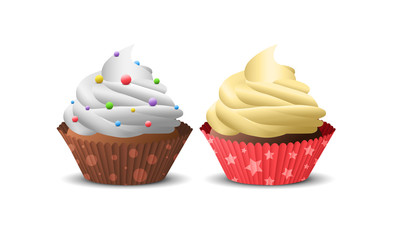 Vector illustration of cupcake