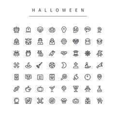 Halloween Line Icons Set