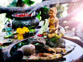 Buda meditación. Ofrenda Espiritual, Viajes Tailandia. mente en paz