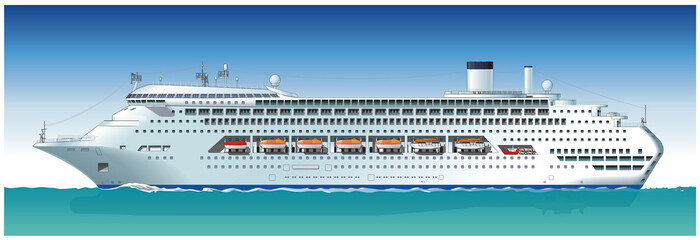 Vector hi-detailed cruise ship