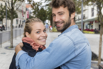 young couple happy