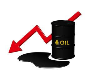 Decrease in oil