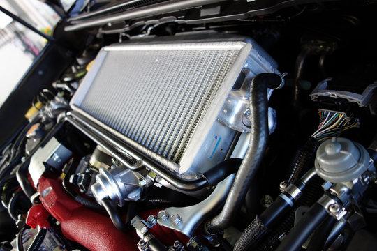 Intercooler for Turbo Boxer Engine of a Sport Sedan