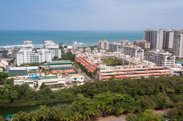 Newly Developed Condominium Buildings in Highly Americanized Barra da Tijuca District in Rio de Janeiro