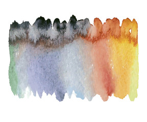 colorful watercolor wet
