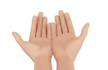 Hands of a man praying
