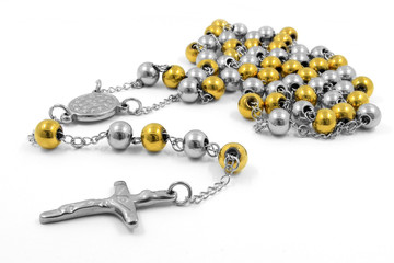 Stainless steel necklace crucifix