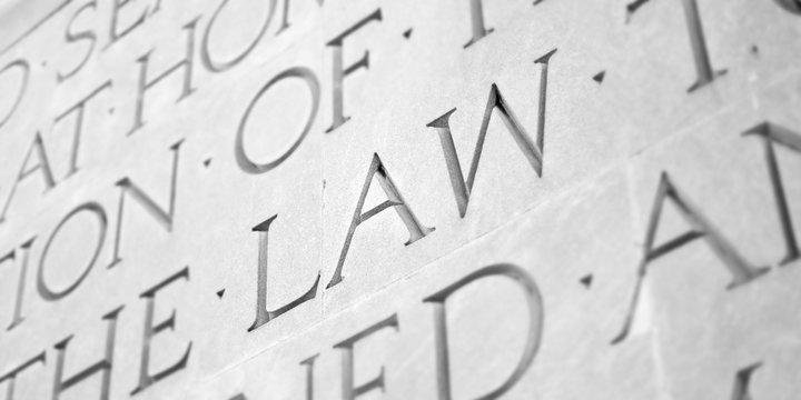 Word Carved in Stone Granite