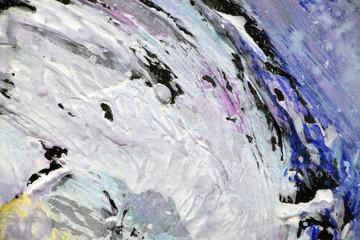 Белое пятно краски на фрагменте картины