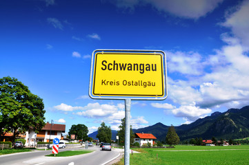 German countryside and village. Bavaria, Schwangau