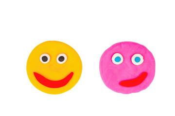 Plasticine face - Stock Image macro.