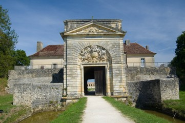 Foto auf Leinwand Befestigung FORT MEDOC, FRANCE - SEPTEMBER 9, 2015: Fort Medoc (built by Vauban), Gironde, Aquitane, France on September 9, 2015