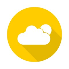 Weather yellow circle icon