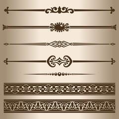 Design elements - decorative line dividers and ornaments.