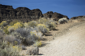 Trail, Fort Rock State Park, Central Oregon