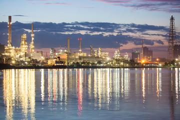 petrochemical industry in night scene