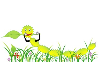 Caterpillar pest nature vector