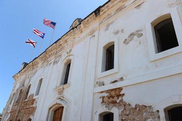Flags at Castillo San Cristobal