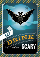 Halloween graphic Bat with Halloween quote