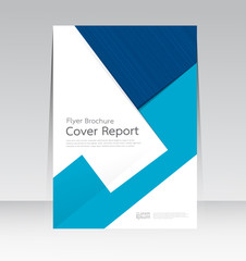 Vector design for Cover Report Annual Brochure Flyer in A4 size