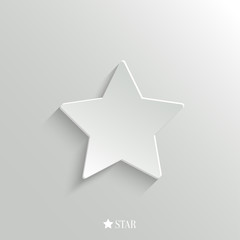 Star icon - vector web background