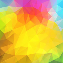 Rainbow colors triangular vector pattern