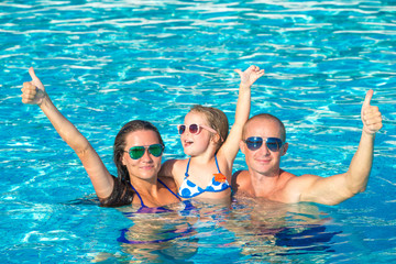 Family In Swimming Pool