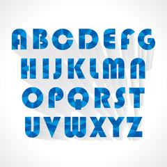 creative abstract alphabet vector illustration