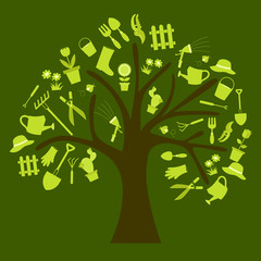 garden tools tree