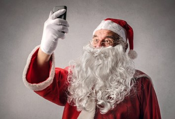 Santa Claus doing a selfie
