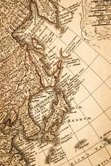 アンティークの世界地図