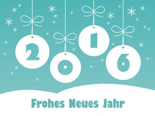 FROHES NEUES JAHR 2016 Grußkarte