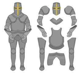 Knight armor. Color