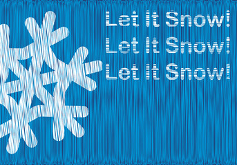 """postcard """"Let it Snow"""""""