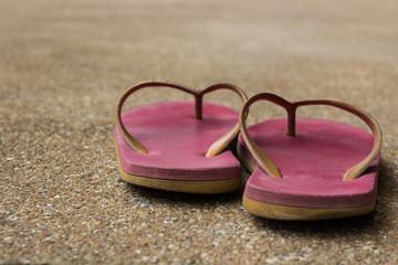 old pink sandals