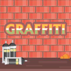 Creative, graffiti flat style vector