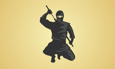 ninja warrior with blade