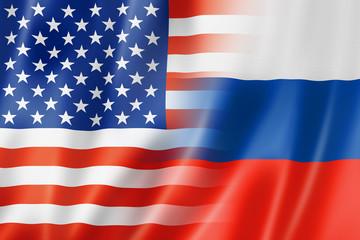 USA and Russia flag