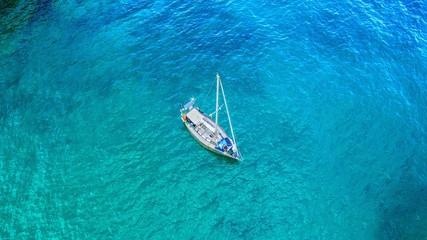 A yacht in a gulf