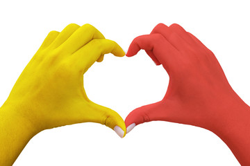 hands in the shape of heart