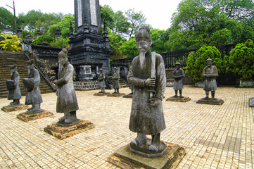 Emperors' tombs and gardens in Hue, Vietnam.