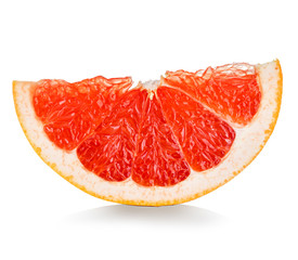 grapefruit slice isolated on white background
