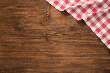 Tablecloth textile on wooden background - Buy this stock ...