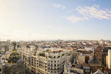 skyline, central Madrid district