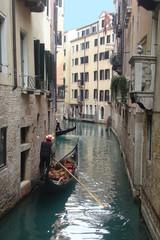 Venice canal with gondolas, Italy