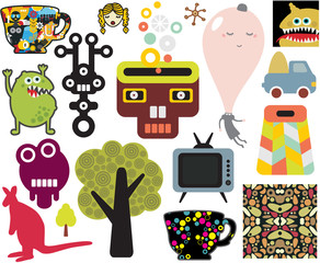 Mix of different vector images. vol.63
