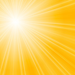 Vector sunburst summer background.