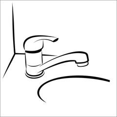 Bathroom taps sketch